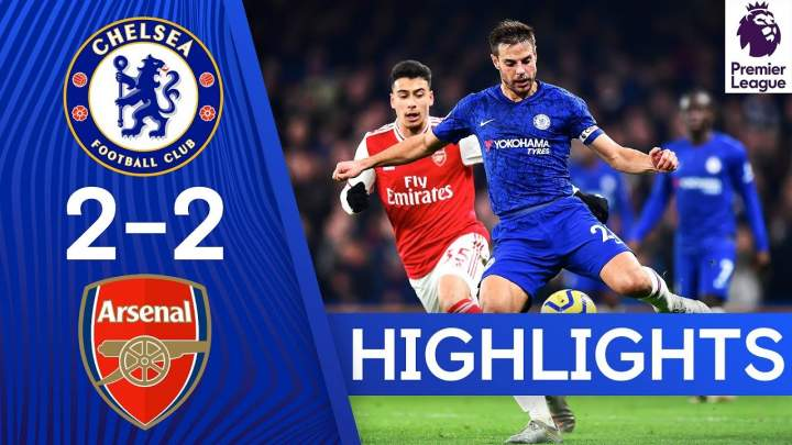 Chelsea 2 - 2 Arsenal (Jan-21-2020) Premier League Highlights