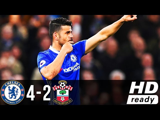 Chelsea 4 - 2 Southampton (Apr-25-2017) Premier League Highlights