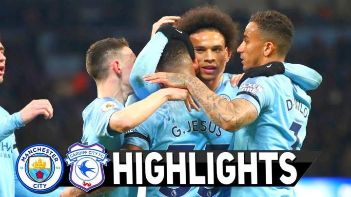 Manchester City 2 - 0 Cardiff City (03-APR-2019) Premier League Highlights