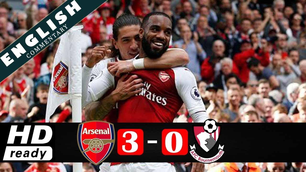 Arsenal 3 - 0 AFC Bournemouth (Sep-9-2017) Premier League Highlights