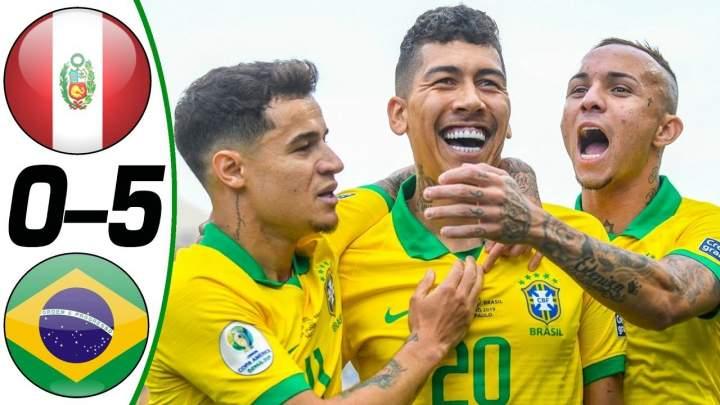 Peru 0 - 5 Brazil (Jun-22-2019) Copa America Highlights