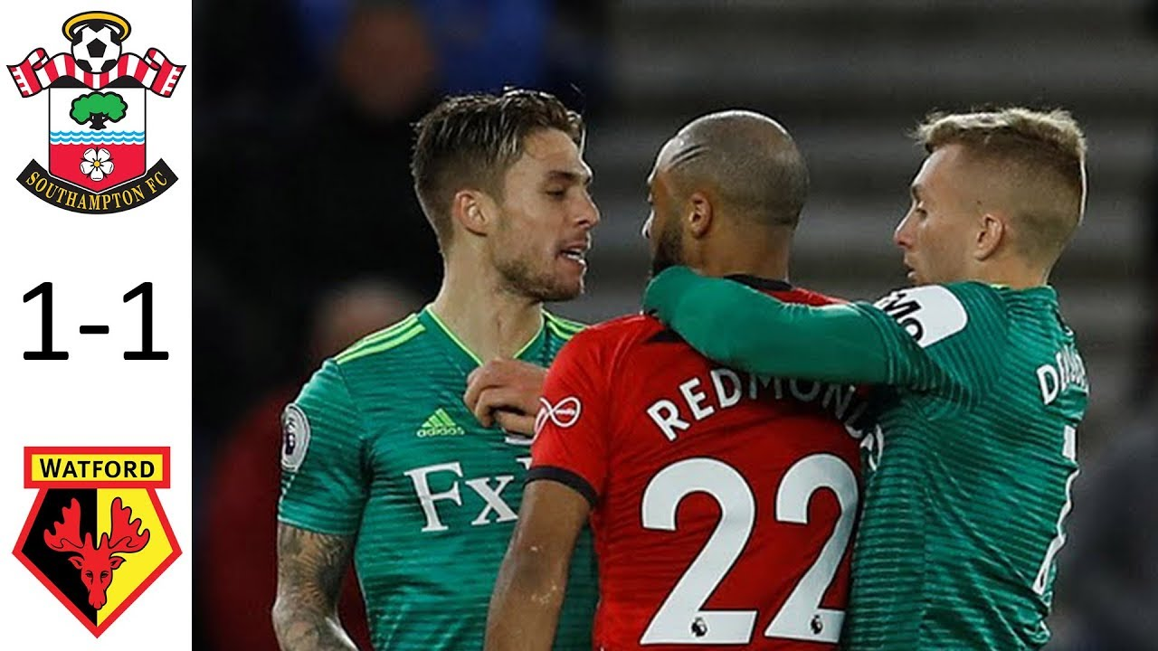 Southampton 1 - 1 Watford (Nov-10-2018) Premier League Highlights