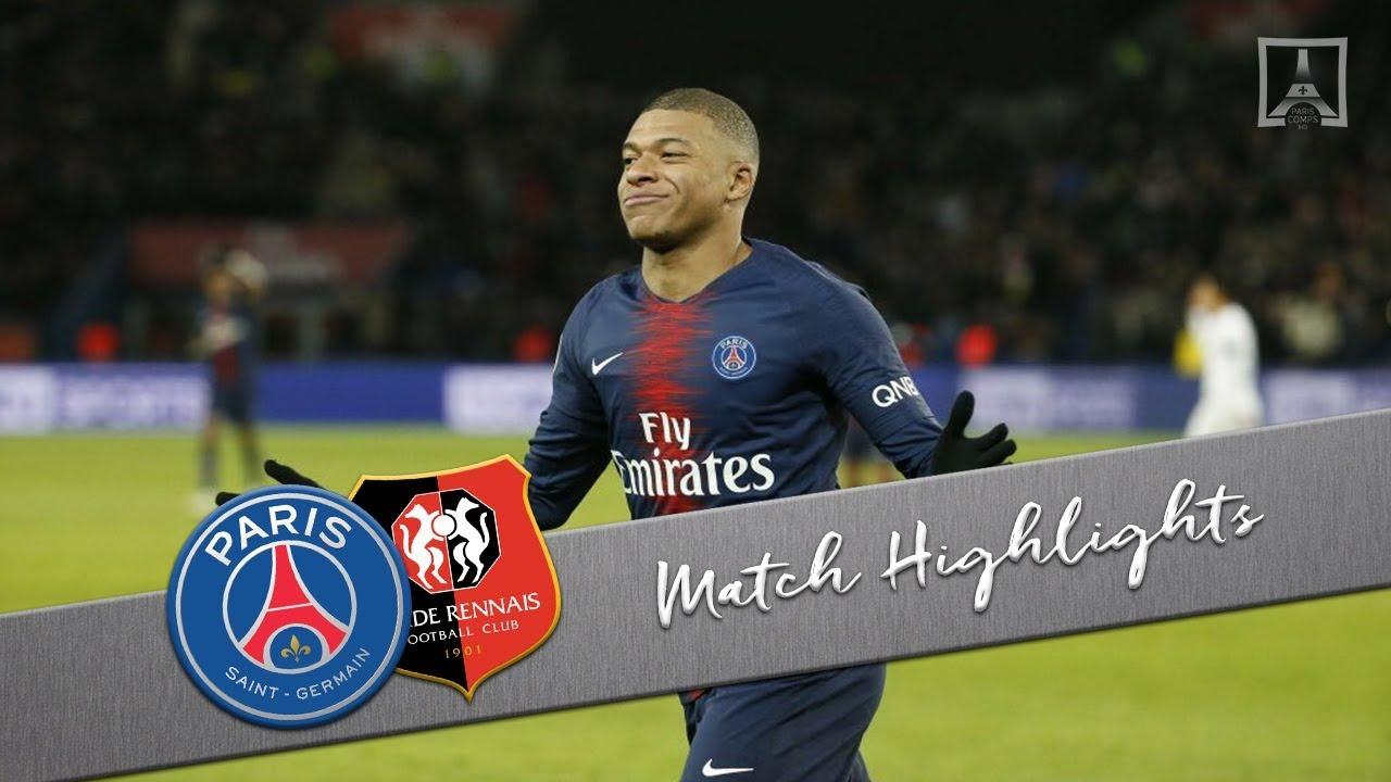 PSG 4 - 1 Rennes (Jan-27-2019) Ligue 1 Highlights