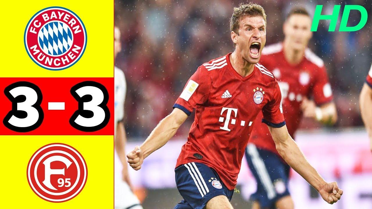 Bayern Munich 3 - 3 Fortuna Düsseldorf (Nov-24-2018) Bundesliga Highlights