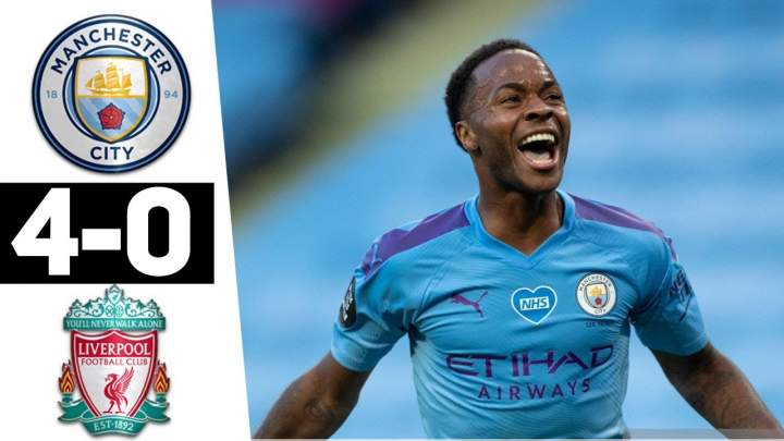 Manchester City 4 - 0 Liverpool (Jul-02-2020) Premier League Highlights