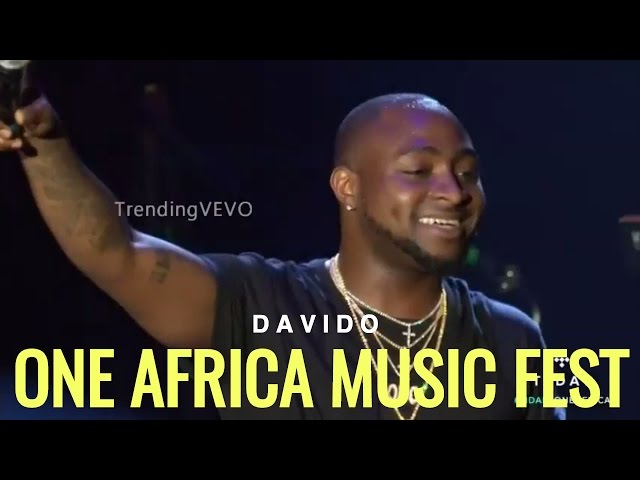 Watch Davido's Energetic Performance at One Africa Music Fest 2017