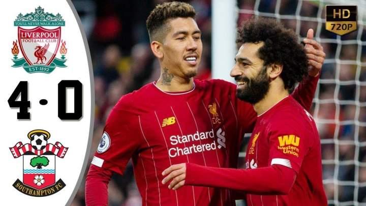 Liverpool 4 - 0 Southampton (Feb-01-2020) Premier League Highlights