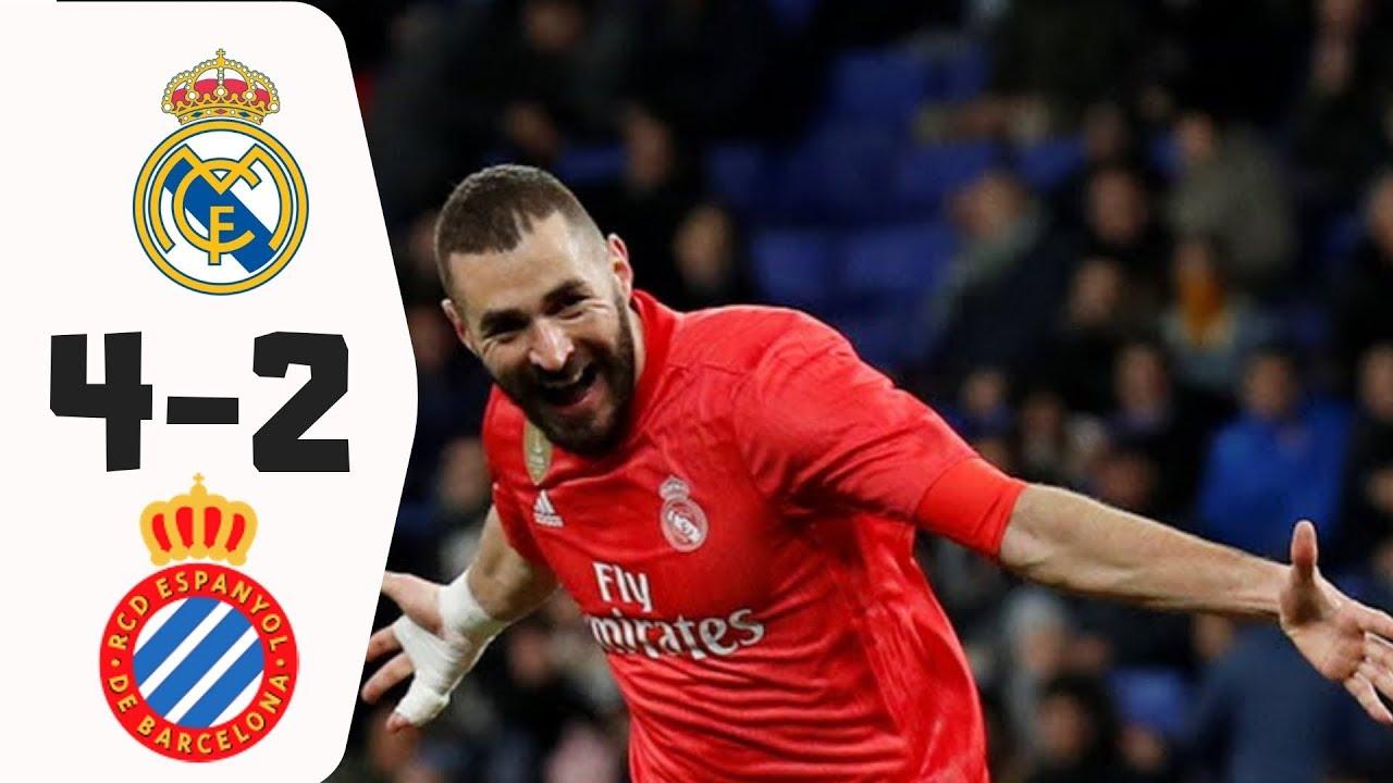 Espanyol 2 - 4 Real Madrid (Jan-27-2019) La Liga Highlights