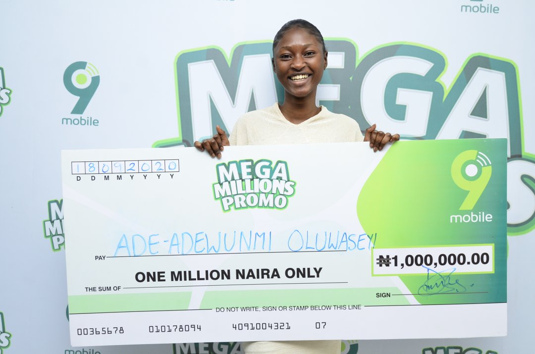 """""""I will gift my N1million win to my only parent, my mother"""" - 9mobile Mega Millions N1m Winner"""