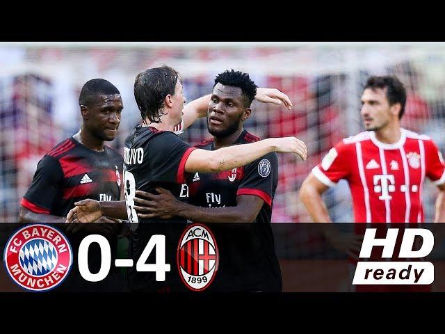 Bayern Munich 0 - 4 AC Milan (Jun-22-2017) Club Friendly Highlights
