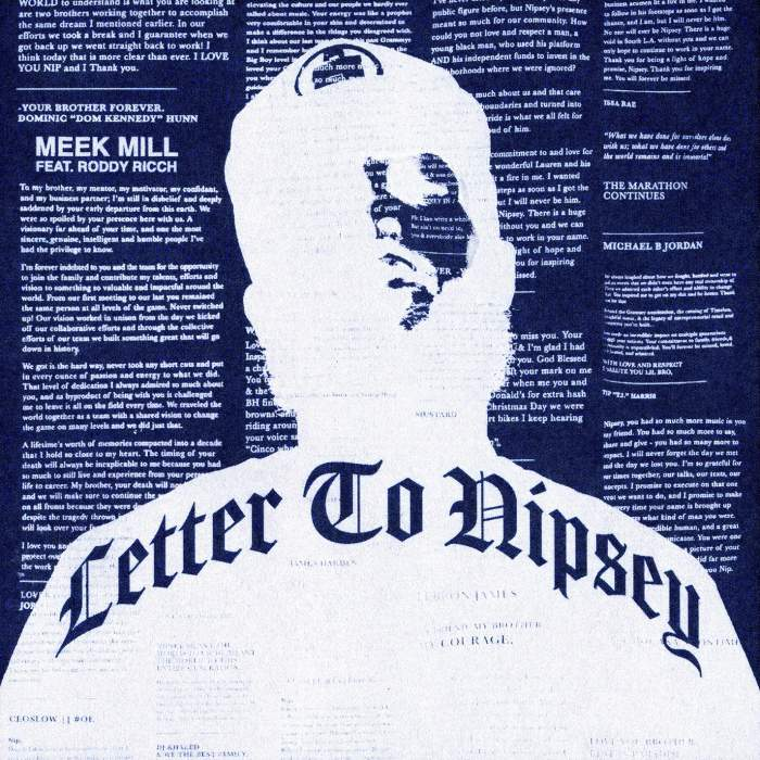 Meek Mill - Letter To Nipsey (feat. Roddy Ricch)