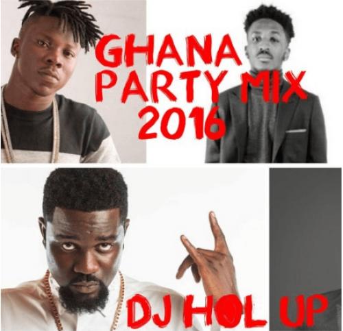 DJ Hol Up - Official Ghana Party Mix 2016 (feat. Sarkodie, Bisa Kdei, E.L, Kwamz, Flava & Jaij Hollands)