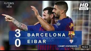 Video: Barcelona 3 - 0 Eibar (Jan-13-2019) La Liga Highlights