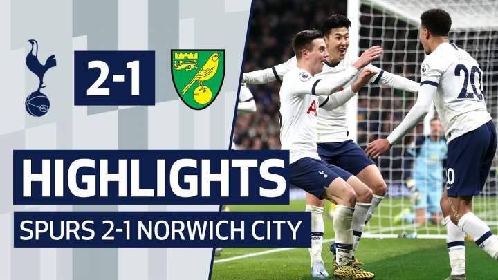 Tottenham 2 - 1  Norwich (Jan-22-2020) Premier League Highlights