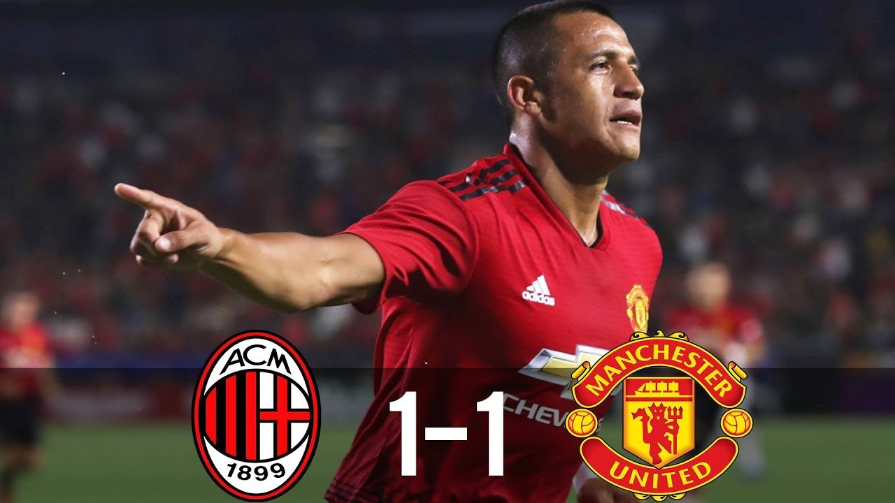 AC Milan 1 - 1 Manchester United (Jul-26-2018) Int't Champions Cup Highlights