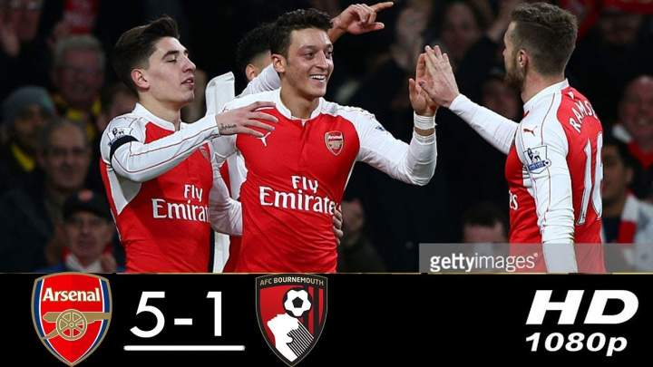 Arsenal 5 - 1 Bournemouth (Feb-27-2019) Premier League Highlights
