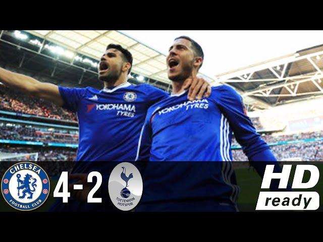 Chelsea 4 - 2 Tottenham (Apr-22-2017) FA Cup Highlights