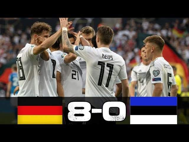 Germany 8 -0 Estonia (Jun-11-2019) Euro Qualifiers Highlights