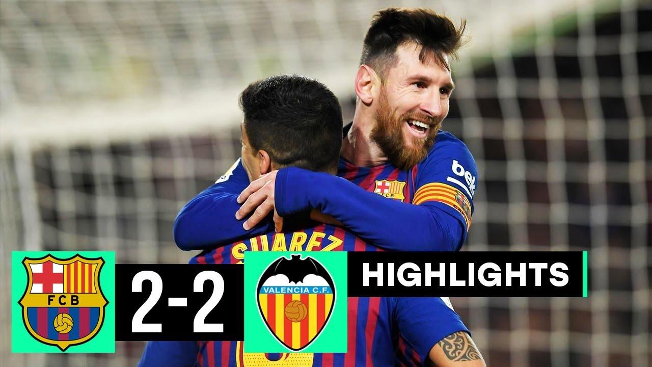 Barcelona 2 - 2  Valencia (Feb-02-2019) La Liga Highlights