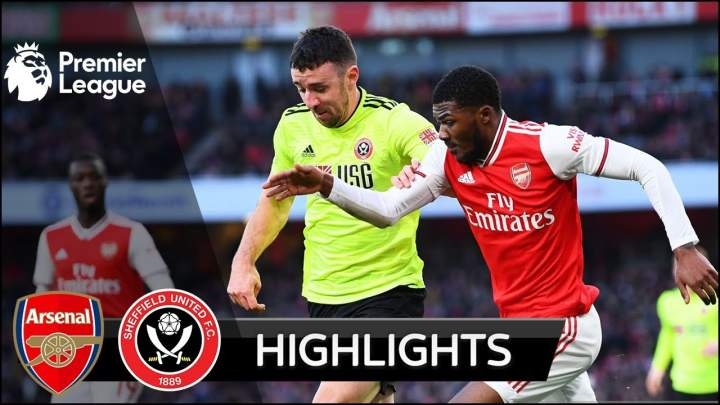 Arsenal 1 - 1 Sheffield Utd (Jan-18-2020) Premier League Highlights
