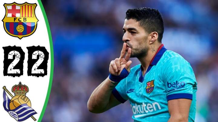 Real Sociedad 2 - 2 Barcelona (Dec-14-2019) LaLiga Highlights