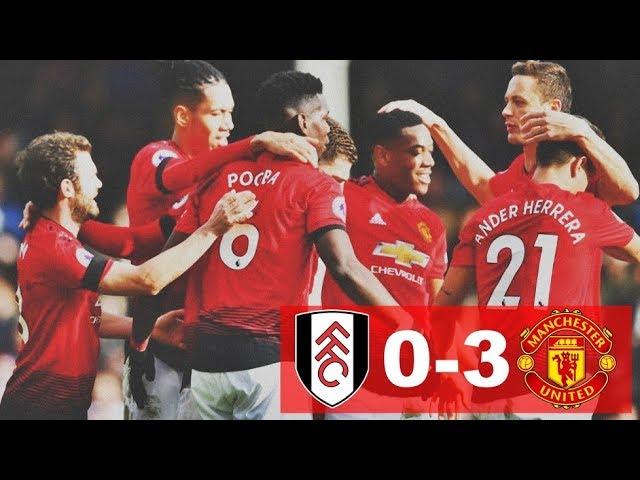 Fulham 0 - 3 Manchester United (Feb-09-2019) Premier League Highlights