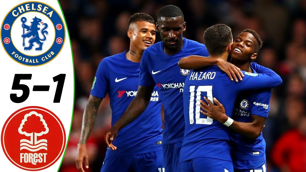 Chelsea 5 - 1 Nottingham Forest (Sep-20-2017) League Cup Highlights
