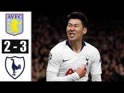 Aston Villa 2 - 3 Tottenham (Feb-16-2020) Premier League Highlights