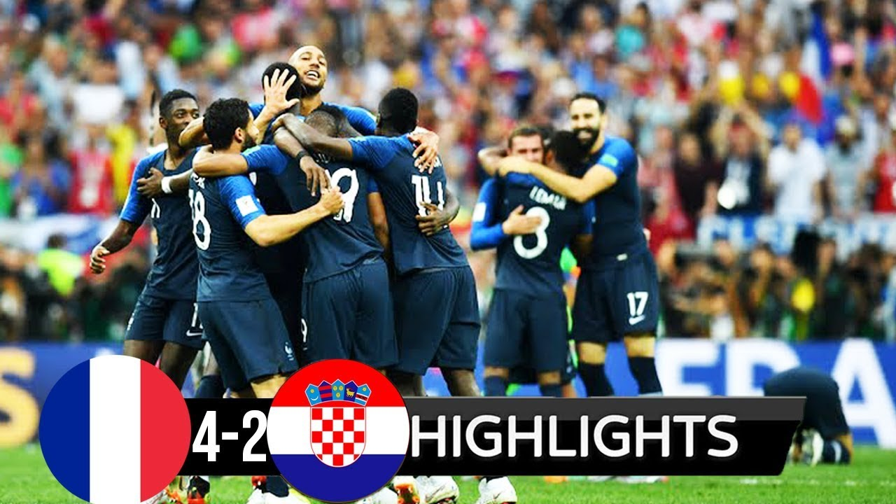 France 4 - 2 Croatia (Jul-15-2018) World Cup Final Highlights