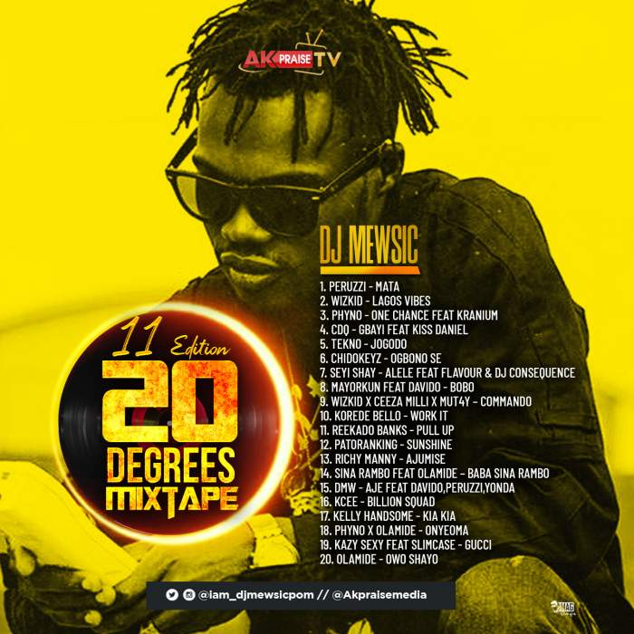 DJ Mewsic - 20 Degrees Mixtape (Vol. 11)
