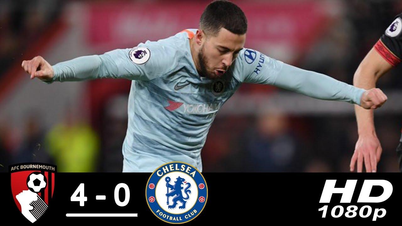 Bournemouth 4 - 0 Chelsea (Jan-30-2019) Premier League Highlights