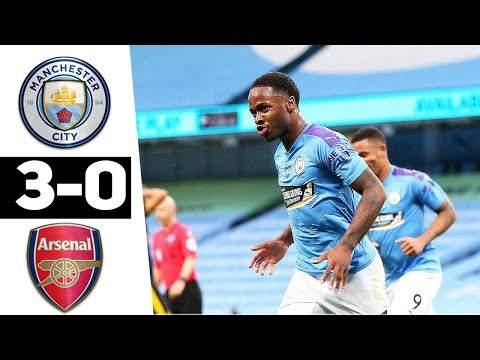 Manchester City 3 - 0 Arsenal (Jun-17-2020) Premier League Highlights