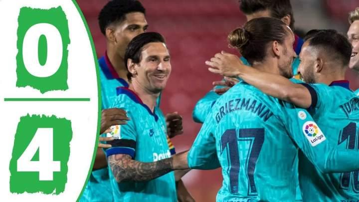 Mallorca 0 - 4 Barcelona (Jun-13-2020) LaLiga Highlights