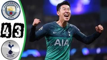 Video: Manchester City 4 - 3 Tottenham Hotspur (17-APR-2019)  Champions League Highlights
