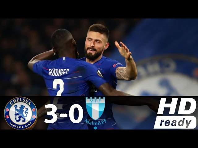 Chelsea 3 - 0 Malmo (Feb-21-2019) Europa League Highlights