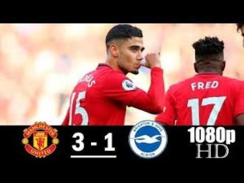 Manchester Utd 3 - 1 Brighton (Nov-10-2019) Premier League Highlights
