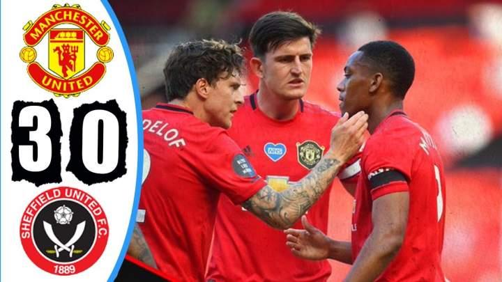 Manchester Utd 3 - 0  Sheffield Utd (Jun-24-2020) Premier League Highlights