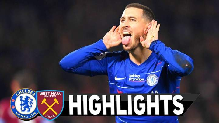 Chelsea 2 - 0 West Ham (08-APR-2019) Premier League Highlights
