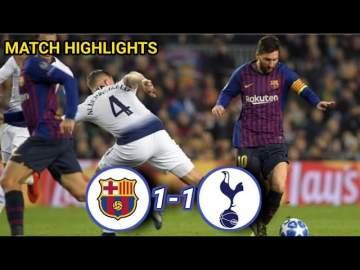 Video: Barcelona 1 - 1 Tottenham Hotspur (Dec-11-2018) Champions League Highlights