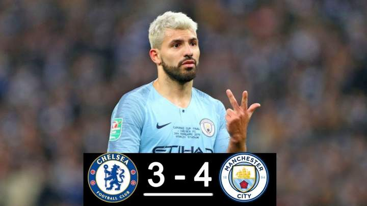 Chelsea 0 - 0 Manchester City (Pens 3-4)  (Feb-24-2019) EFL Cup Highlights