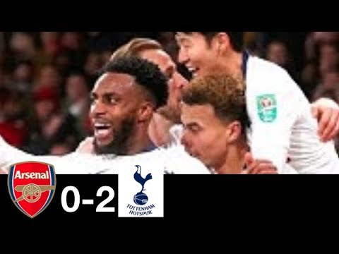 Arsenal 0 - 2 Tottenham Hotspur (Dec-19-2019) EFL Cup Highlights