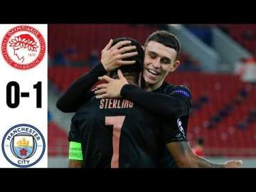 Video: Olympiacos Piraeus 0 - 1 Manchester City (Nov-25-2020) UEFA Champions League Highlights