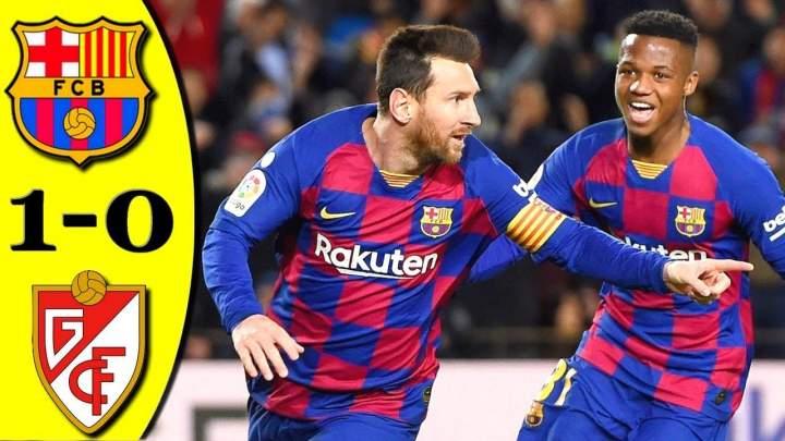Barcelona 1 - 0 Granada CF (Jan-19-2020) LaLiga Highlights