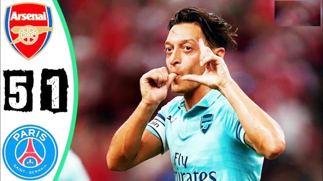 Arsenal 5 - 1 PSG (Jul-28-2018) Int'l Champions Cup Highlights