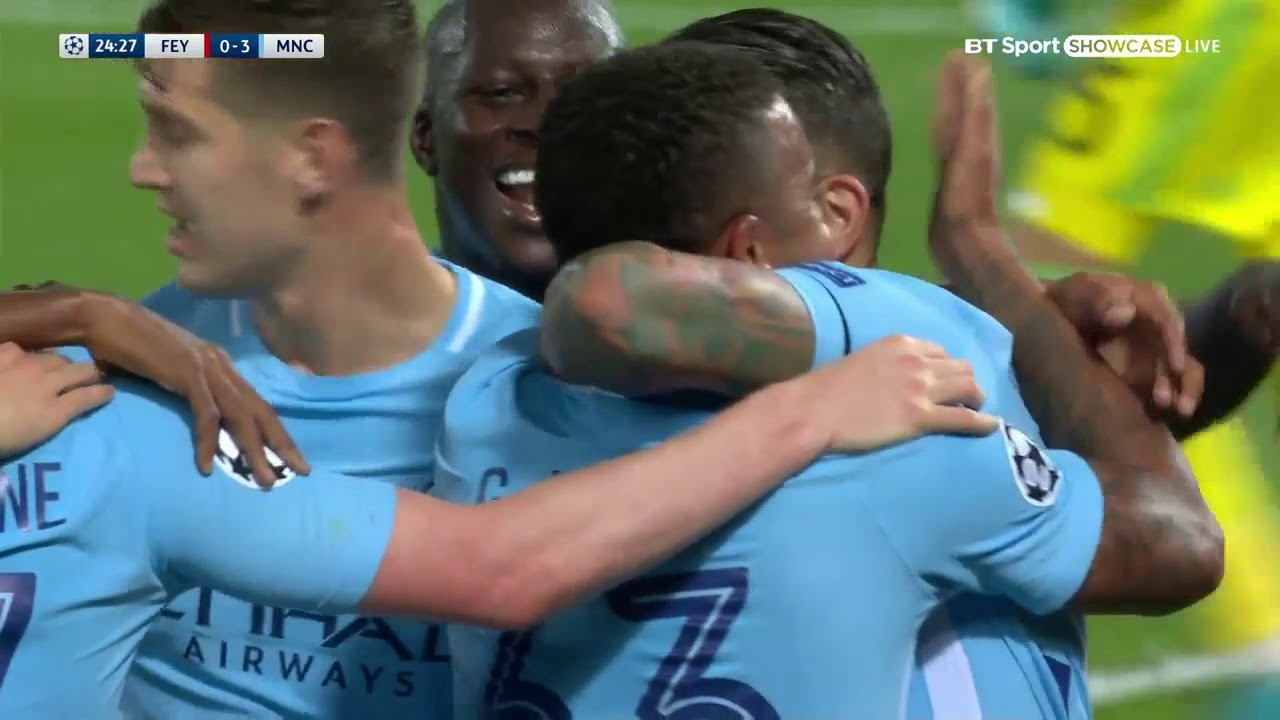 Feyenoord 0 - 4 Manchester City (Sep-13-2017) UEFA Champions League Highlights