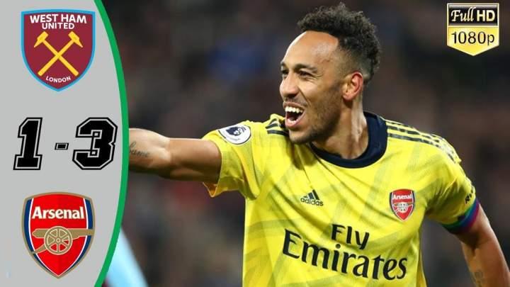 West Ham 1 - 3 Arsenal (Dec-09-2019) Premier League Highlights
