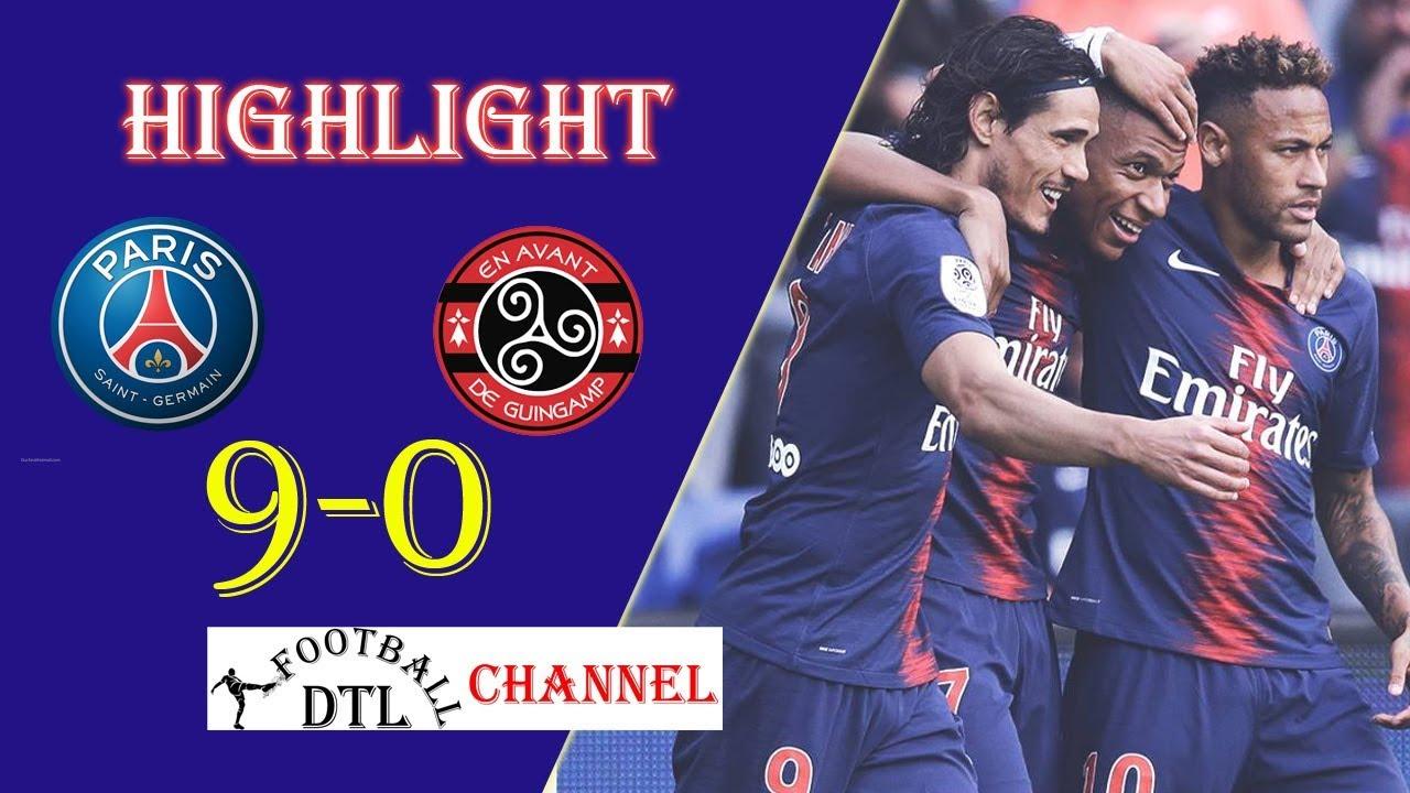 PSG 9 - 0 Guingamp (Jan-19-2019) Ligue 1 Highlights