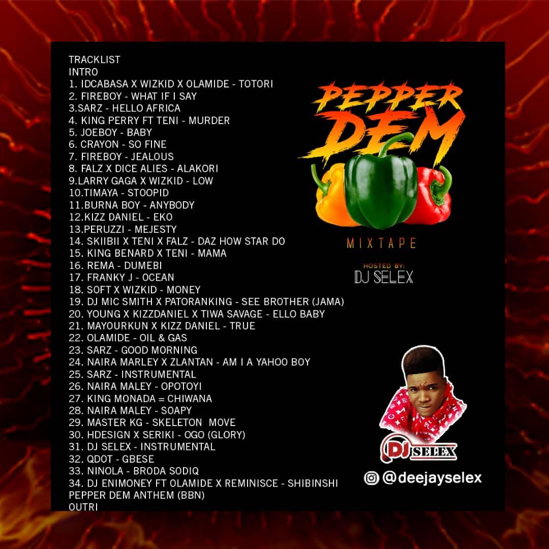 DJ Selex - Pepper Dem Mixtape Tracklist