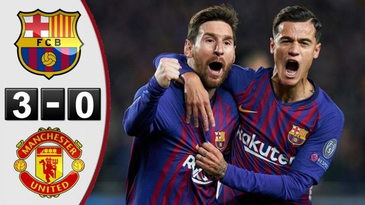 Barcelona 3 - 0 Manchester United (16-APR-2019) Champions League Highlights