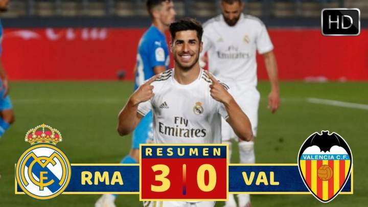 Real Madrid 3 - 0 Valencia (Jun-18-2020) LaLiga Highlights